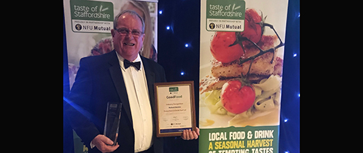 Festival Chairman recognised at Taste of Staffordshire Awards